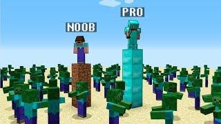 Minecraft Noob vs. Pro: зомби-апокалипсис вызов 3 - смешная битва Minecraft
