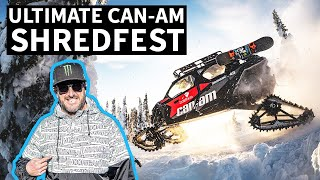 Shredfest in the ULTIMATE Can-Am - Ken Block at the Best Snow Cat Snowboarding Spot: Baldface Lodge!