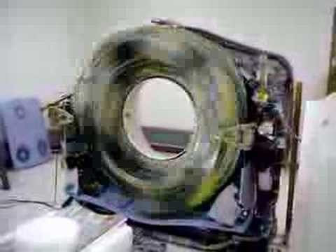 CT Scanner at max speed without protective covers