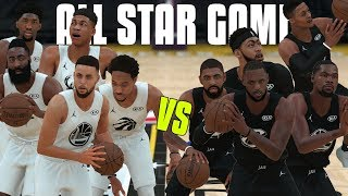 2018 NBA All Star Game In NBA 2K18! Team Curry vs Team LeBron!