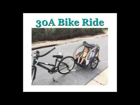 30A Bike Ride Aerial Cruising Along the Timpoochee Trail