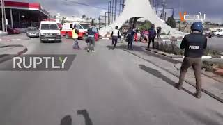 State of Palestine: Palestinian man shot by Israeli soldiers in Ramallah *GRAPHIC*