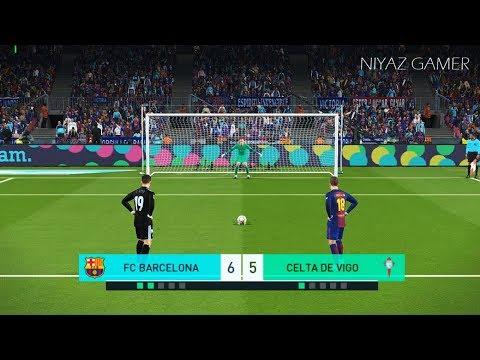 FC BARCELONA vs CELTA DE VIGO | Penalty Shootout | PES 2018 Gameplay PC
