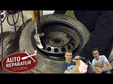 REIFEN AUFZIEHEN | abziehen erneuern montieren demontieren Reifenmontiermaschine [Tutorial] HD