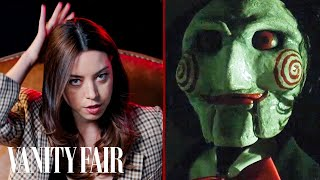 Aubrey Plaza Reviews Creepy Dolls From Saw, Poltergeist & More | Vanity Fair