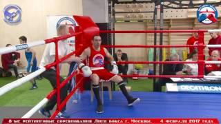 8-ые рейтинговые бои Лига бокса г. Москвы  – 04.02.17 г. до 69 кг.