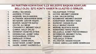 AK Parti'nin Konya'daki ilçe belediye başkan adayları belli oldu