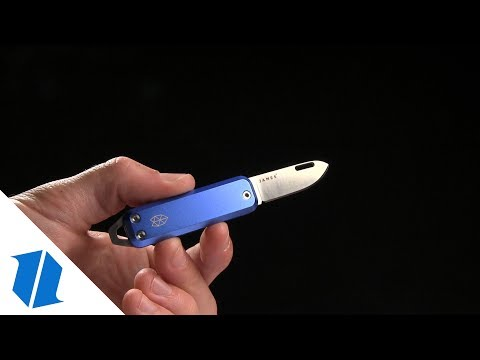 "James The Elko Slip Joint Keychain Knife Cerulean (1.6"" Satin)"