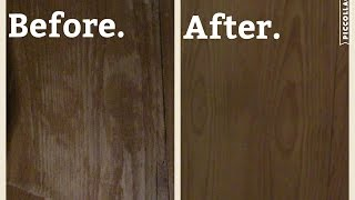 How to remove water rings off wood furniture.