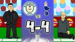 🤯4-4! SPURS BEAT MAN CITY!🤯 (Llorente handball goal, VAR offside, Sterling goal + more highlights!
