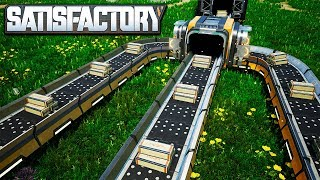 The Fastest Conveyor Belts in Satisfactory - Making Mk4 Conveyor Belts with Reinforced Steel Beams