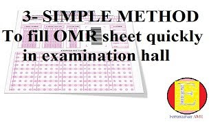 How to fill OMR Sheet quickly in examination hall     Entrance Fear    easy2crack