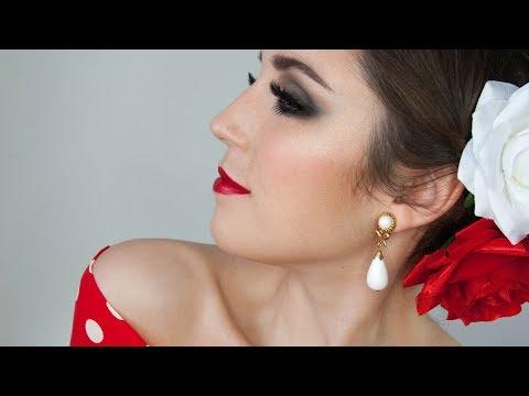 Maquillaje intenso de FLAMENCA ♡ FERIA/ESPECTACULO/DANZA