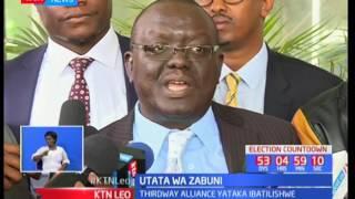 Chama cha Jubilee na NASA zatupilia mbali ombi la IEBC ya kushuhudia uchapishaji wa kura