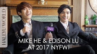 Mike He & Edison Lu at 2017 Men's Fashion Week in NYC! 賀軍翔、呂白聚2017紐約男裝週