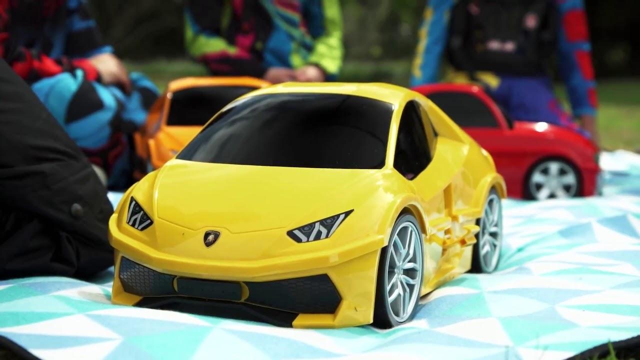 Чемодан машинка RIDAZ Lamborghini Huracan (Red) 91002W-RED video preview