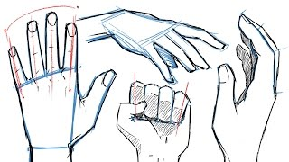 How To Draw HANDS And HAND POSES!