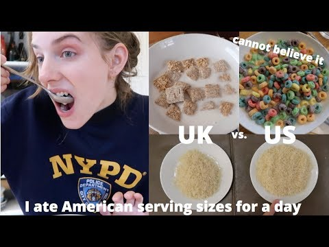 Eating AMERICAN recommended serving sizes for a day