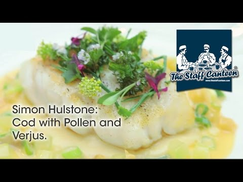 Michelin star chef Simon Hulstone creates a cod with pollen and verjus recipe