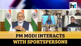 PM Modi interacts with sports stars, asks them to spread positivity