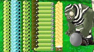 All Gatling Snow Pea vs Dr. Zomboss Plants vs Zombies