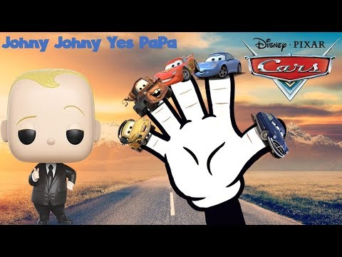 Disney Pixar Cars 3 Lightning McQueen Finger Family Nursery Rhyme Song Johny Johny Yes Papa