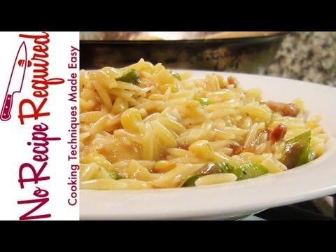 Orzo Risotto with Summer Vegetables – Pasta Recipes by NoRecipeRequired