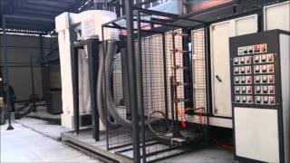 Otomatik Hareketli Kabinli Elektrostatik Toz Boya Tesisi - Movable Spraybooth Powder Coating System