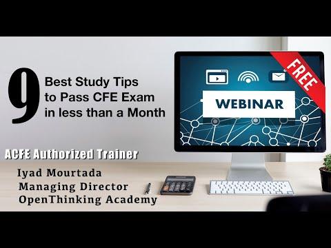 Best Study Tips to Pass CFE Exam - Iyad Mourtada - YouTube
