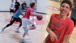 DEFENDING LAMELO BALL IN REAL LIFE BASKETBALL ! 5V5 Chino Hills Players