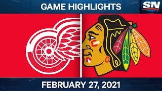 NHL Game Highlights | Red Wings vs. Blackhawks - Feb. 27, 2021 by Sportsnet Canada
