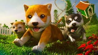 СИМУЛЯТОР Маленькой собаки #1 Виртуальный питомец в мультяшной игре видео для детей #ПУРУМЧАТА