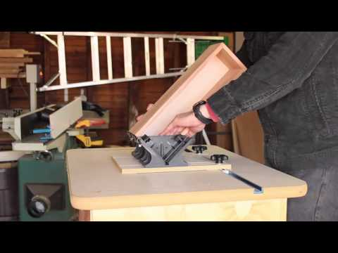 Rockler Router Table Spline Jig in Action by Hosey's Workshop