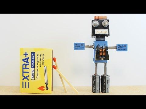 Mini Robot Casero con Componentes Electrónicos