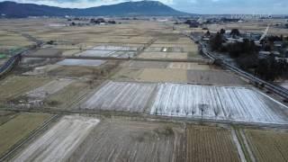 オトナの新潟空撮観光新潟市西蒲区夏井・弥彦山の風景
