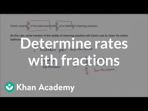 Rates with fractions (video) | Khan Academy