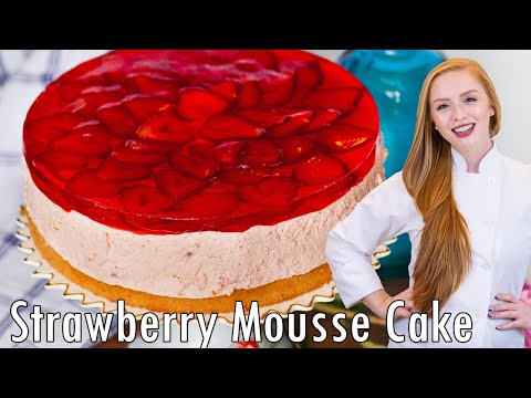 Video Strawberry Mousse Cake