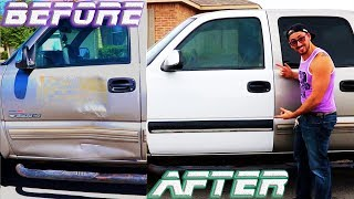 Replacing a 1999-2007 Chevy/GMC truck door with a new/used one✔