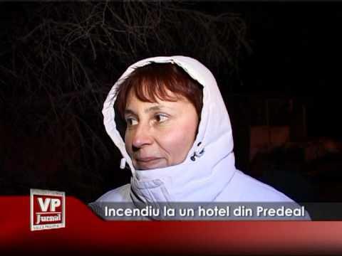 Incendiu la un hotel din Predeal