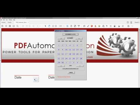 Popup Calendar For PDF Fillable Forms