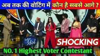 Shocking: अब तक कि Voting में कौन चल रहा है सबसे आगे | No.1 Highest Voter Contestant | IndianIdol12