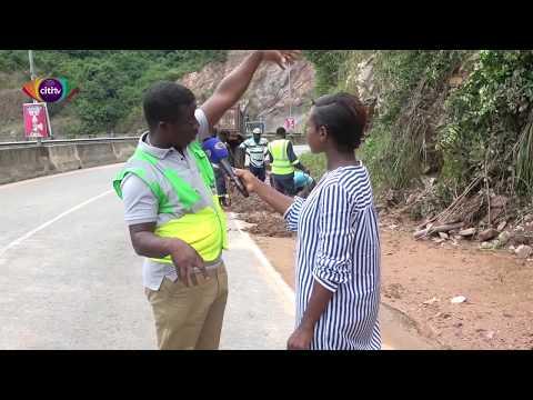 Commuters react to Aburi road mudslide - Citi Newsroom