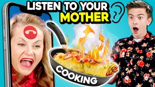 Teens Try To Cook Dinner Without Getting Angry At Their Mom On Zoom | LISTEN TO ME! Ep. #1