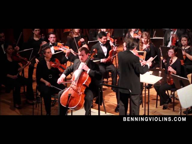 "Cellest Nathan Cottrell Performs Bloch's ""Schelomo"" on Benning Cello"