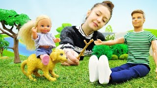 Собака спасла Штеффи в парке - Игрушки для девочек