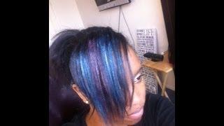 Diy Hair Coloring with eyeshadow