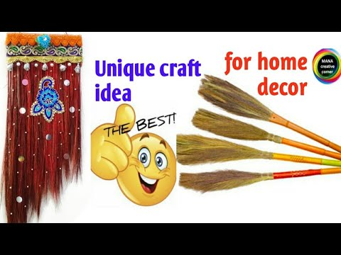 Best Out Of Waste Broom Craft Ideadiy Wall Hanging With Broom