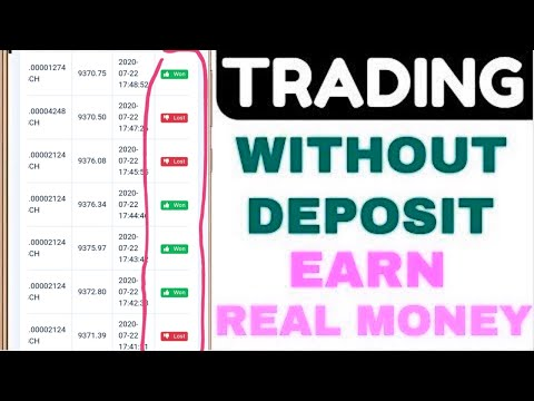 Binary options with a minimum deposit demo account