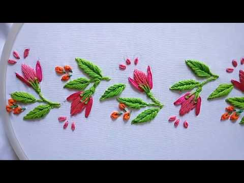 Hand Embroideryhand Embroidery Border Design Leishas Galaxy