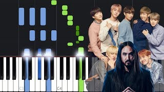 Steve Aoki   Waste It On Me Feat. BTS Piano Tutorial